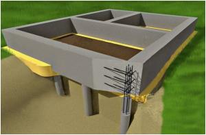 Комбинированный ленточно столбовой фундамент