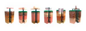 Варианты свайно-винтового ростверка