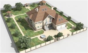 Размещение дома на участке с учетом значимых объектов