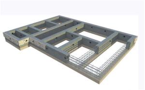 Схема незаглубленного ленточного фундамента