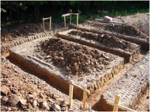 Земляные работы для ленточного фундамента МЗЛФ