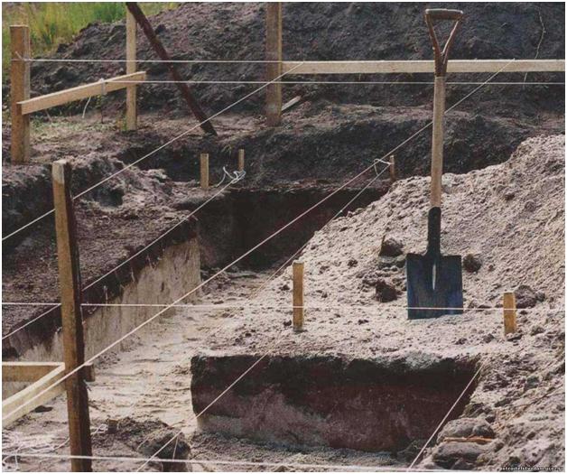 Земляные работы столбчатого фундамента