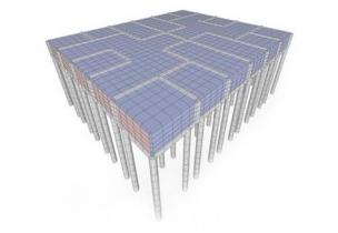Комбинированное основание свайно-плитного фундамента