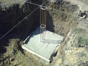 Бетонная подготовка для столбчатого фундамента