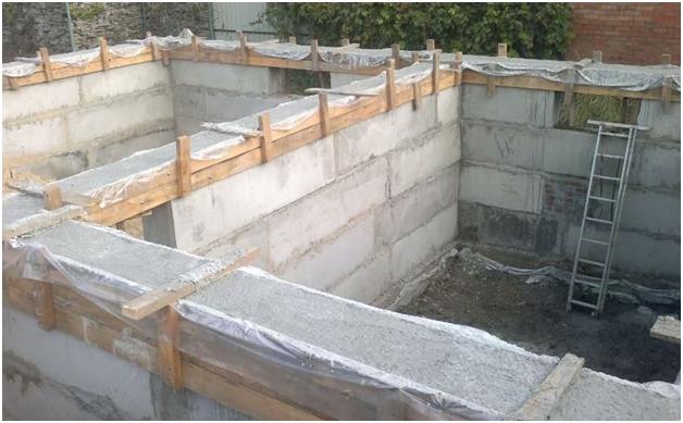 Как сделать дверной проем в фундаментных блоках 40х60