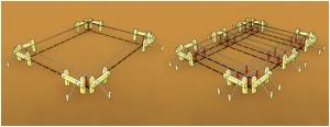 Вынос осей в натуру для ленточного фундамента на сваях