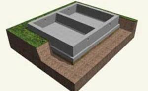 Заглубленная фундаментная плита