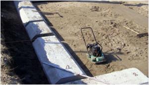Песчаный подстилающий слой для плит ФЛ