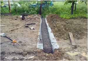 Щебеночная подсыпка для ленточного фундамента каменного забора