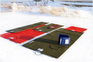 Маты инфракрасного обогрева зимнего ленточного фундамента