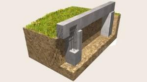 Монолитный столбчато ростверковый фундамент