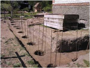 Армирование и бетонирование