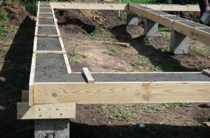 Монолитный бетонный ростверк