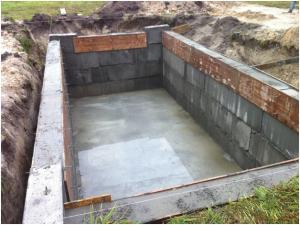 Конструкция погреба внутри дома