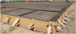 Съемная опалубка для фундаментной плиты