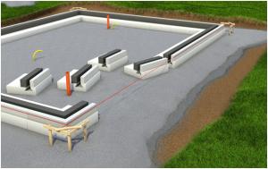 Подстилающий слой для плиты УШП фундамента