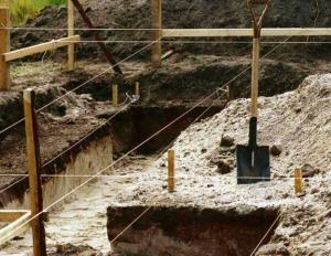Разметка и земляные работы для фундамента под ключ