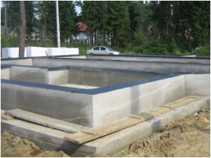 Фундамент под дом чашеобразная плита с ребрами жесткости вверх