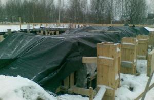 Тепляк для зимнего бетонирования