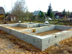 Фундамент МЗЛФ для бани