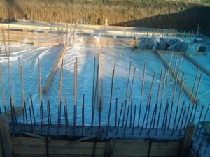 Консервация фундамента в зиму