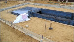 Фундамент для гаража с ямой и погребом