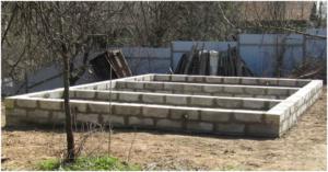 Фундамент из блоков 20 х 20 х 40