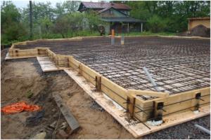 Монолитное основание для деревянного дома