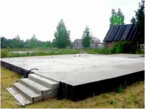 Плиточный фундамент