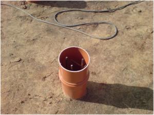 Несъемная опалубка из пластиковой трубы для буронабивной сваи