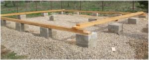 Конструкция фундамента столбчатого