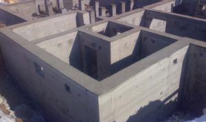 Заглубленный фундамент для подвального этажа