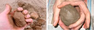 Проверка песка на содержание глины