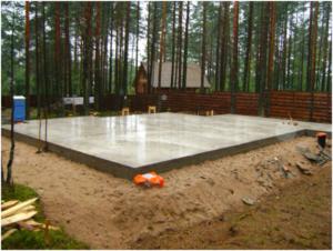 Фундамент плита плавающая