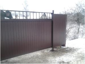 ворота под винтовые сваи