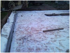Покрытая песчаная подушка